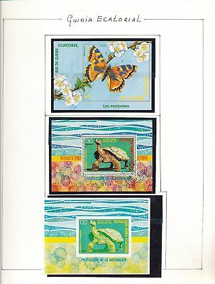 EQUATORIAL GUINEA Wildlife Cats Dogs Used MNH (Appx 100) AU9577