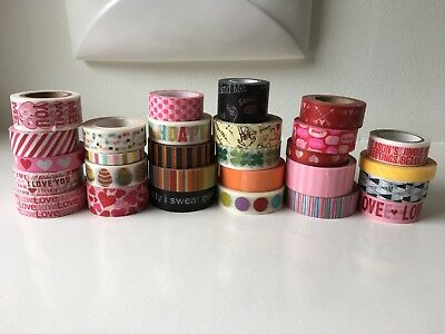 28 Rolls Of Doodlebug And Assorted Washi Tape All New Rolls