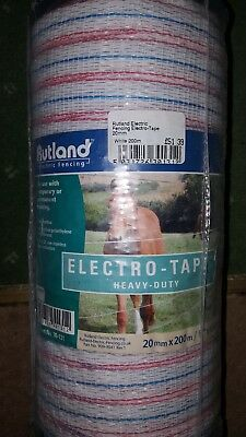 Rutland heavy duty tape 20mm X 200m Tape electro electric fence