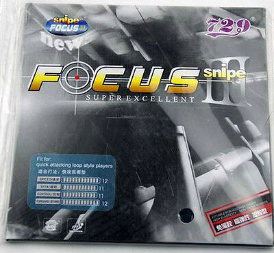 RITC729 FOCUS3 Snipe Pips-In Table Tennis Rubber/Sponge Sheets, New