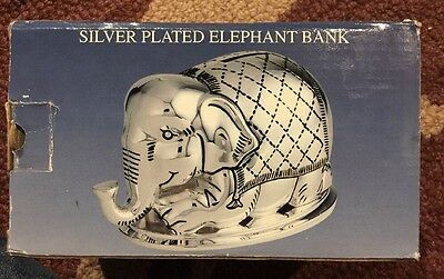 Godinger Silver Art Silver Played Elephant Bank Style #8100 New
