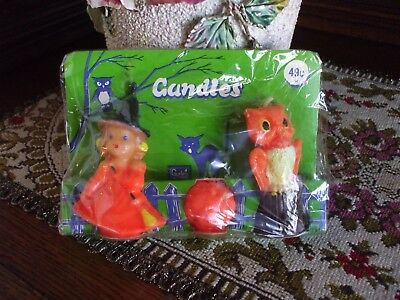 Vintage Halloween Gurley Candles Decorations New in Package Witch Jack o Lantern