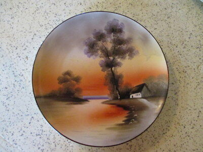 "Vintage Collectors Plate,  Hand-Painted,  ""noritake"", Mid-Century Modern Import"