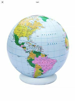 """New Inflatable Globe Political 36"""" Diameter Base Include"""