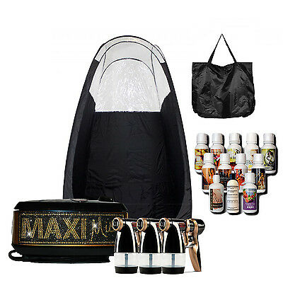 Maximist Allure Xena Bling Spray Machine with Black Tent and Tampa Bay Tan Spray