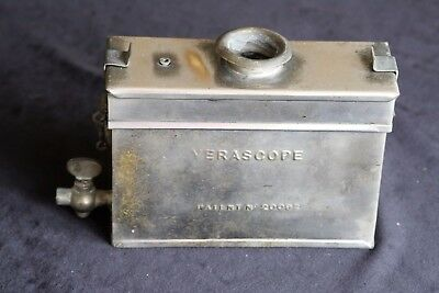 Rare Antique 'verascope' Developing Tank For Glass Plate/film . With Inserts.