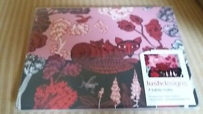 LUSH Designs Placemats foxes pink