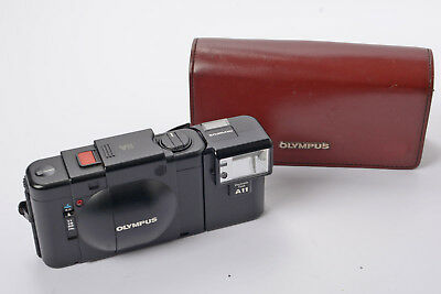 Olympus XA Camera f/2.8 35mm F Zuiko Lens + A11 Flashgun & Olympus Case Instruct