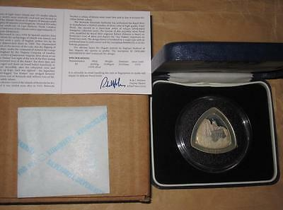 "1997 Bermuda Triangular Ship Coin $3 Proof Silver coin with & COA & BOX ""RARE"""