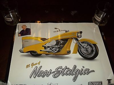 Arlen Ness Ness-Stagia 57 Chevy Custom Motorcycle Poster