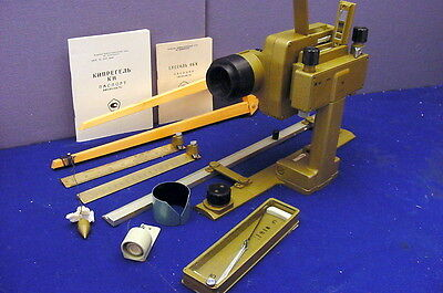 Fabulous Russian Made Plane Table Theodolite Complete Kit In Case W/accessories!