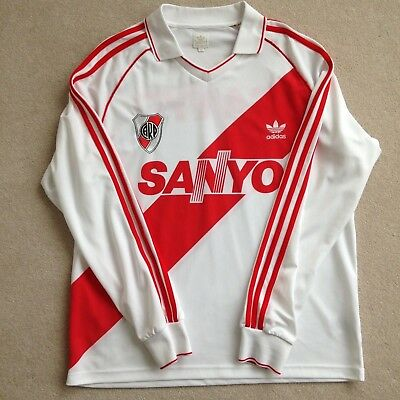 Adidas Originals Long Sleeve River Plate Football Shirt Jersey Top Size Xl Sanyo