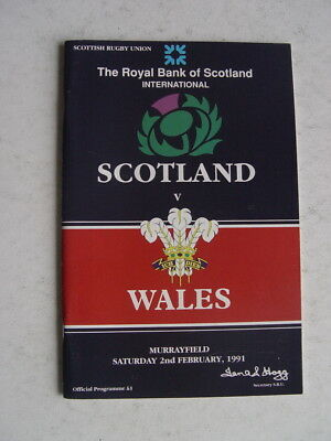 Scotland v Wales 1991 Rugby