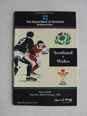Scotland v Wales 1993 Rugby