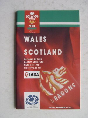 Wales v Scotland 1992 Rugby