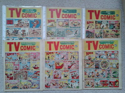TV Comic - 6 issues - Four Feather Falls, Popeye, Lone Ranger, Lenny Lion 1960
