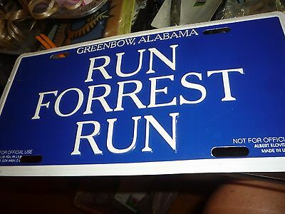Run Forrest Run Metal Greenbow, Alabama Novelty License Plate Forrest Gump Movie