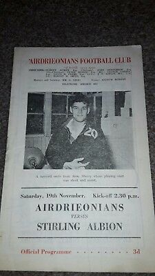 Airdrieonains V Stirling Albion 1955-56