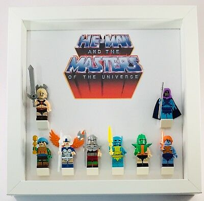 Lego Minifigures Display Frame He-man Masters of Universe inc custom minifigs