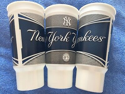 3x New York Yankees (NY) Collectible Plastic Stadium Cup