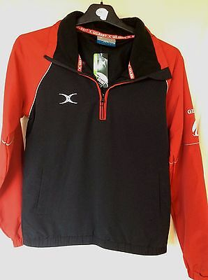 Gilbert Rugby Jacket Black & Red Size Medium Boys New with Tags