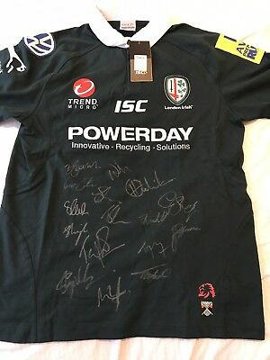 London Irish Signed Rugby Shirt