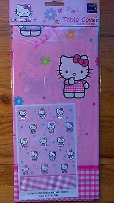 Hello Kitty Theme Party Wipe Clean Table Cover 183cm x 138cm