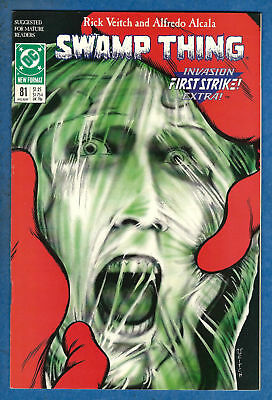 SWAMP THING #81 (2nd Series) - DC 1989 VF/NM Invasion First Strike Extra!