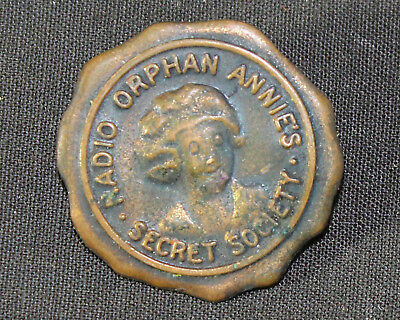 Antique Vintage ROASS Radio Orphan Annie's Secret Society Pinback Pin