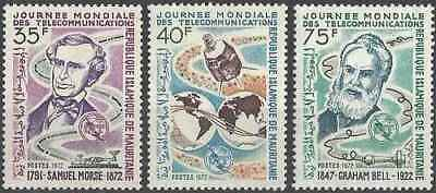 Timbres Communications Mauritanie 298/300 ** lot 23186