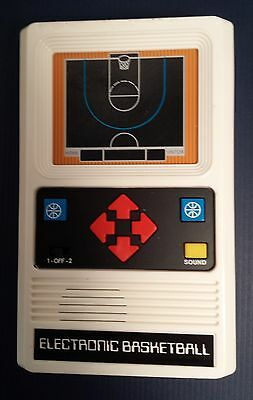 Electronic Basketball by Mattel - Hand Held Game in Great Condition!