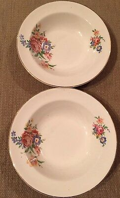 Crown Clarence Staffordshire Small Dessert Bowl x2
