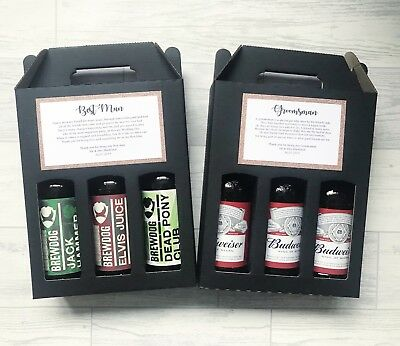 Personalised Beer Box Christmas Gift For Dad Daddy Grandad Step Dad Brother