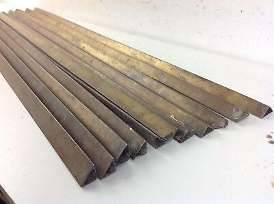 11 Triangle Brass Metal Stair Carpet Rods Old Reclaimed Antique