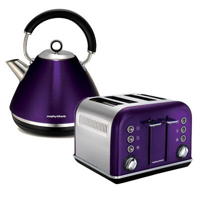 Morphy Richards 4 Slice Toaster & Kettle Pack - Plum