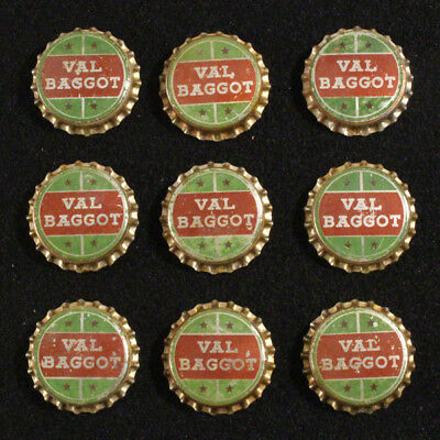 9 Val Baggot Unused Cork Lined Soda Bottle Cap Wisconsin Dells Coca-Cola Coke Wi