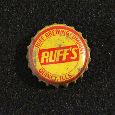 Ruff's Cork Lined Beer Bottle Cap Quincy, Illinois Red Crown Ruff-Riedel Dick's+