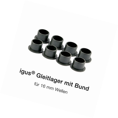 8 x igus ® Flanged bearing - iglidur® Ø16mm GFM-1618-16