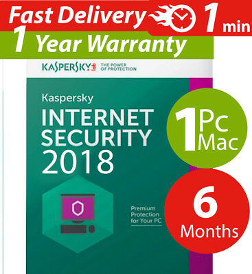 Kaspersky internet security 2017  ( 1 ) Pc-mac-android ( 6 ) Months  Worldwide