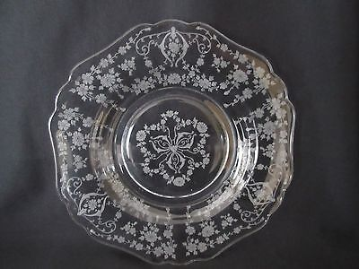 "Cambridge Diane Etch Set of 2 8"" Salad Plates Excellent"