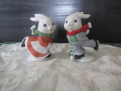 Homco 5305 Two Skating Figurines