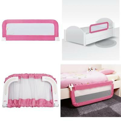 New Infant Bedrail Single Bed Rail Toddler Guard Cotbed Single Child Safety Pink