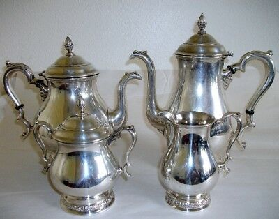 Fine International Sterling Silver 4 Piece Prelude Tea Set.