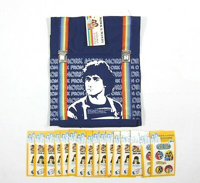 Mork And Mindy Robin Williams Nos Backpack Puffy Sticker Sheet Vintage Unopened