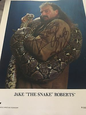 Jake The Snake Roberts Signed Picture