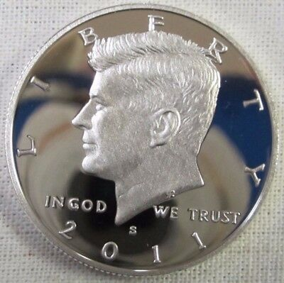 2011 S Kennedy Half Dollar - Gem Proof Deep Cameo - 90% Silver
