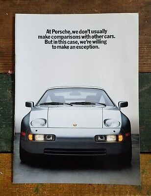 1986 Porsche 928S 4 ~ 911 turbo ~ Silver Top Speed 165 MPH Vtg Print 8 page Ad