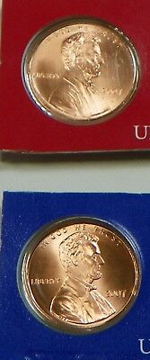 2007 P D Lincoln Memorial Satin Finish Cent Penny BU coins from U.S. Mint