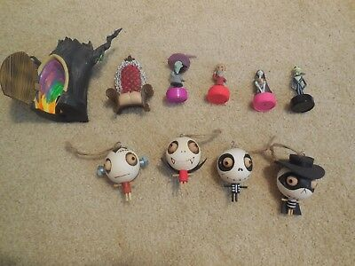 Nightmare Before Christmas Tree Ornaments lot of Toys, Stampers Decorations etc.