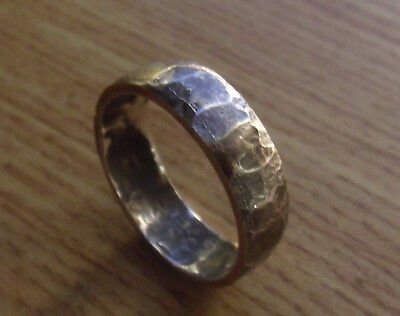 HAND CRAFTED HAMMERED 900 SILVER 100 COPPER VIKING Ring 8, 9,10,11,12,13,14,16